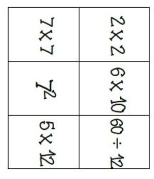 Multiplication and Division fact fluency game - Equal Values