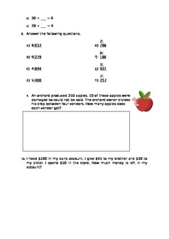 Multiplication and Division for 3rd Grade