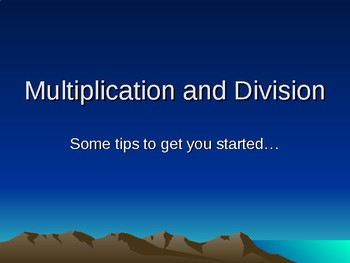 Multiplication and Division iRespond PPT