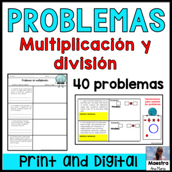 Multiplication and Division in Spanish - Problemas de multiplicación y división