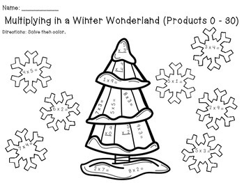Multiplication and Division in a Winter Wonderland