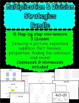 Multiplication and Division minilessons, classwork, homework
