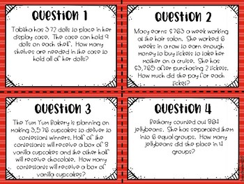 Multiplication and Division multi-step word problems TEKS 4.4H