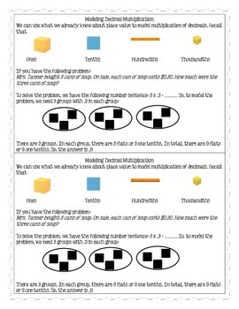 Multiplication and Division of Decimals