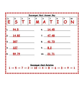 Multiplication and Division of Decimals: Scavenger Hunt