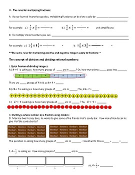 Multiplication and Division of Fractions Teaching For Understanding