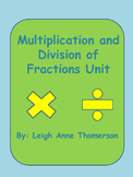 Multiplication and Division of Fractions Unit