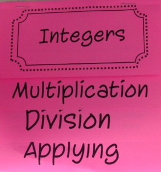 Multiplication and Division of Integers Flip Book