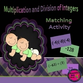 Multiplication and Division of Integers Matching review activity