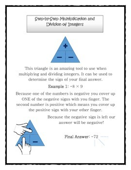 Multiplication and Division of Integers Trick and Practice