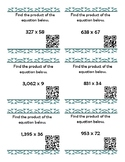 5th Grade Multiplication and Division of Whole Number Task Cards