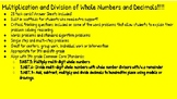 Multiplication and Division of Whole Numbers and Decimal T