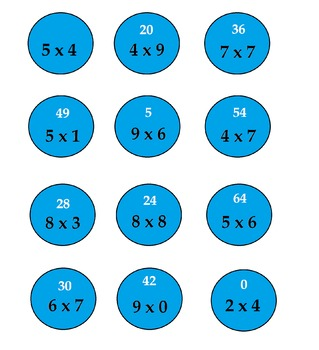 Multiplication and Division quiet time activity
