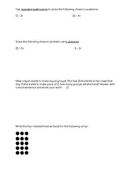 Multiplication and Division unit test Alberta