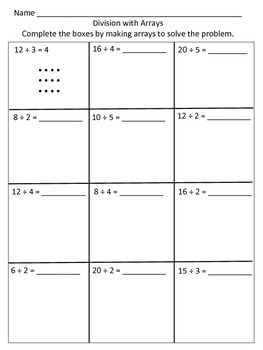 Multiplication and Division using equal groups and arrays