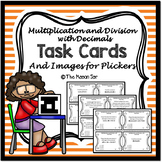 Multiplication and Division with Decimals Task Cards (with images for Plickers)