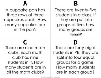 Multiplication and Division within 100 Test Prep Math Stations
