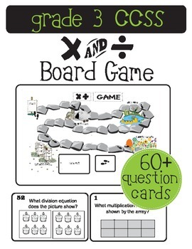 Multiplication and Division Board Game (Grade 3 Math CCSS)