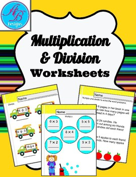 Multiplication and Divition Worksheets.Review. Math Centers. No Prep.