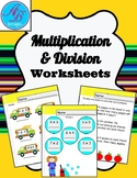 Multiplication and Divition Worksheets.Review. Math Center
