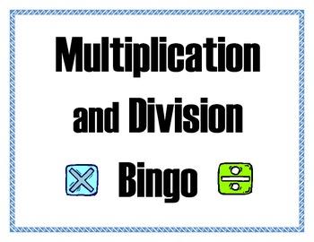 Multiplication and Divsion Bingo