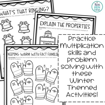 Multiplication and Division Winter Themed