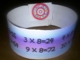 Multiplication and Editable Wristbands - elementary-class.com