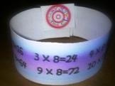 Multiplication and Editable Wristbands - elementary-class.com