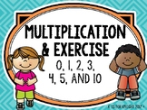 Multiplication and Exercise - Multiplying by 0, 1, 2, 3, 4