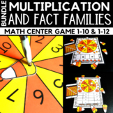 Multiplication and Fact Families Fall Game Bundle