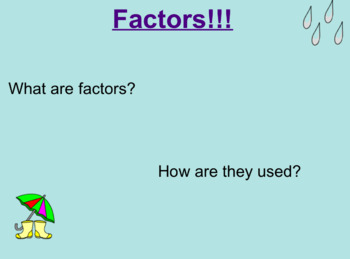 Multiplication and Factors