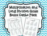 Multiplication and Long Division Guide Boxes COMBO PACK!
