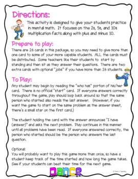 Multiplication and Mental Math With I Have Who Has