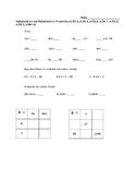 3.OA.5,6,7,8,9 and 3.NBT.3 Assessment Multiplication Properties