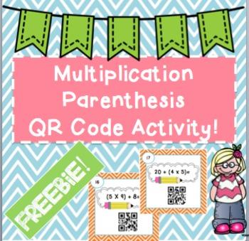 Multiplication and Parenthesis FREEBIE!