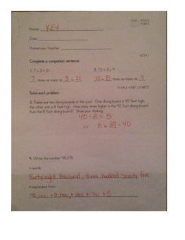 Multiplication and Place Value - 4.NBT.1, 4.NBT.2, 4.OA.1, 4.OA.2