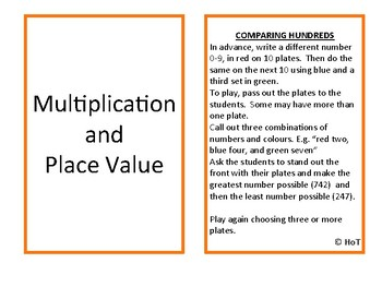 Multiplication and Place Value SFFs