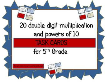 Multiplication and Powers of 10 Task Cards