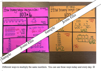 Multiplication and Powers of Ten Student Reference Document
