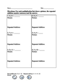 Multiplication and Repeated Addition Homework