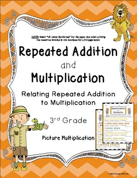 Multiplication and Repeated Addition with Picture Multiplication (2 Worksheets)