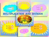 Multiplication and division PowerPoint presentation End of the year activities