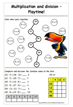 Multiplication and division: Playtime! - worksheet