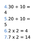 Multiplication and division cards 2, 5, and 10 times tables