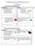 Multiplication and division word problems - Differentiated