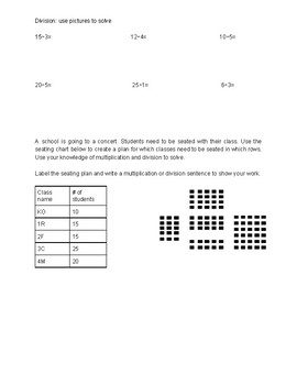 Multiplication and division worksheet grade 3