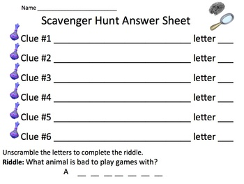 Multiplication and its Properties Scavenger Hunt Activity