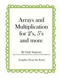 Multiplication arrays for 2, 5 and more