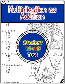 Multiplication as Addition Test