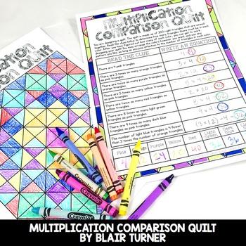 Multiplication as Comparison: 4th Grade Math Centers 4.OA.1